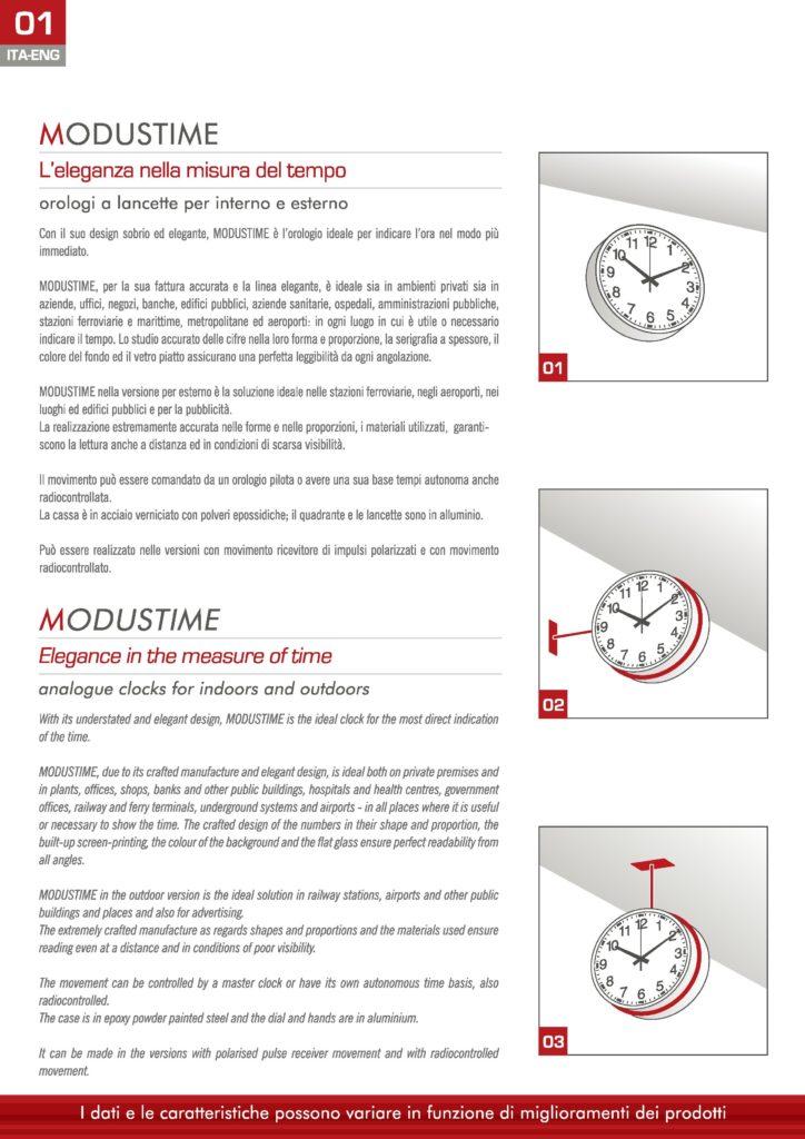 L'eleganza nella misura del tempo, orologi visivi a lancette. Design elegante, modustime è l'orologio ideale per indicare l'ora nel modo più immediato