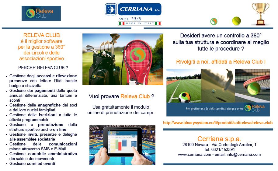 Releva Club è il miglior software per la gestione a 360° dei circoli e delle associazioni sportive, gestione accessi, pagamenti, anagrafiche e iscrizioni.