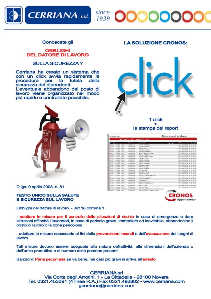 Cerriana ha creato un sistema che con un click avvia rapidamente la procedura rapida e controllata per la tutela della sicurezza dei dipendenti.