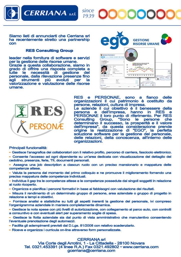 Cerriana ha recentemente stretto una partnership con Res Consulting Group leader nella fornitura e servizi per la gestione delle risorse umane