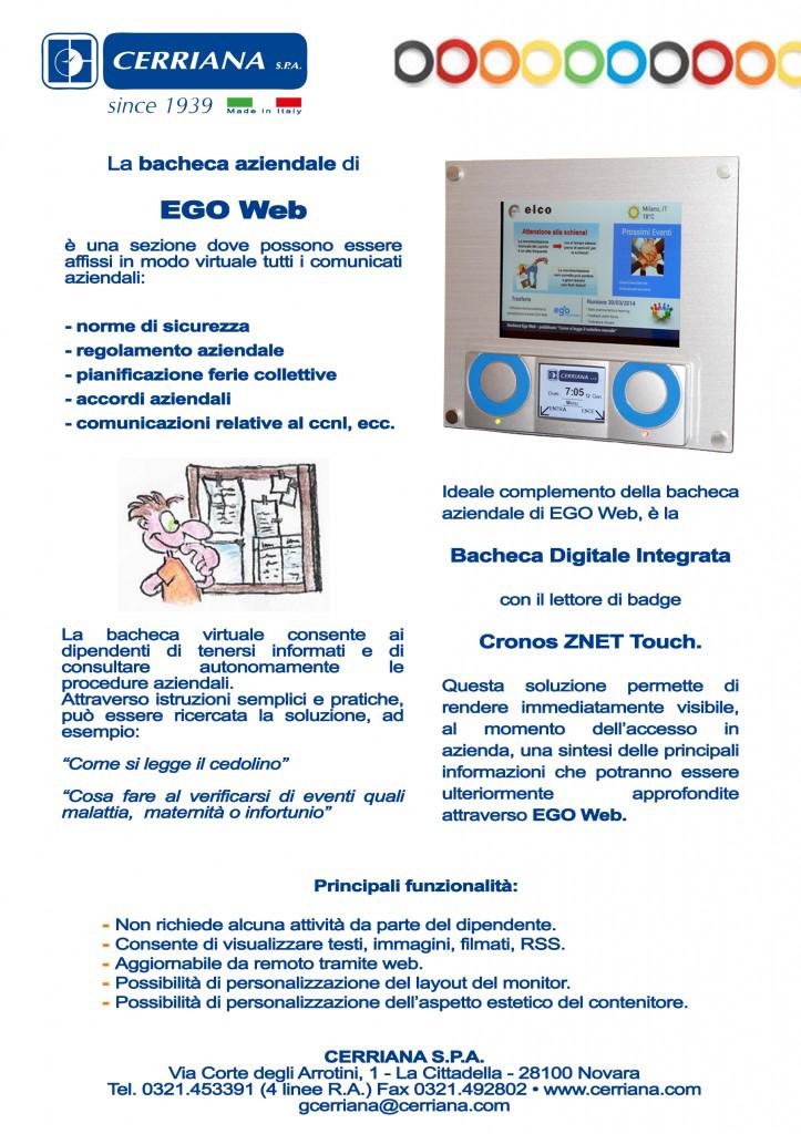 La bacheca aziendale di EGO Web. Cerriana newsletter