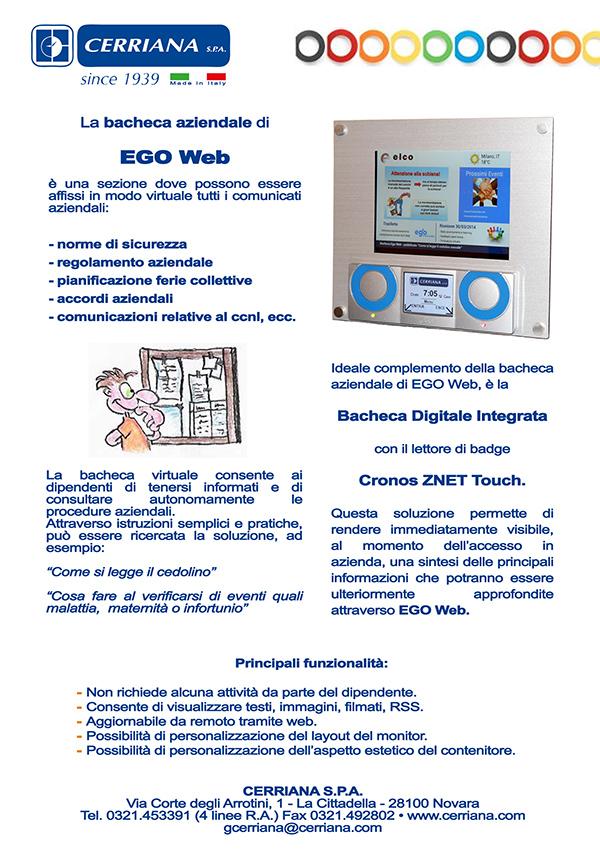 Newsletter Cerriana maggio 2014. La bacheca aziendale di Ego web è una sezione dove possono essere affissi in modo virtuale tutti i comunicati aziendali.