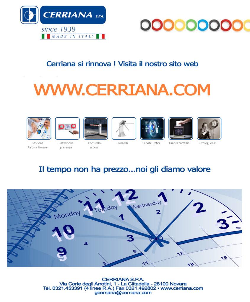 Cerriana.com si rinnova. Visita il nostro sito web, il tempo non ha prezzo noi gli siamo valore!