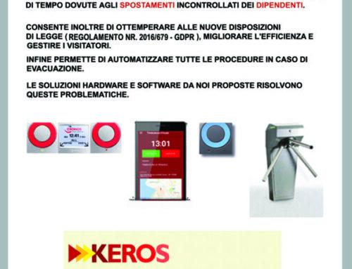 Keros: la soluzione ideale per la gestione presenze e il controllo accessi