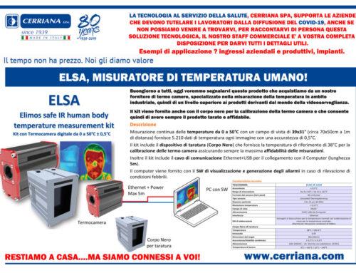 Termocamera e Controllo accessi: ELSA, il misuratore di temperatura