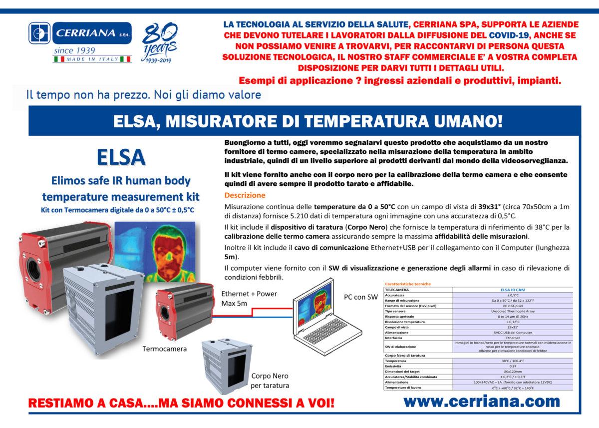 controllo accessi e misurazione temperatura